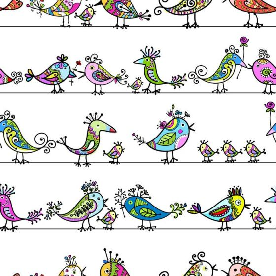 16709707 - funny birds, seamless pattern for your design